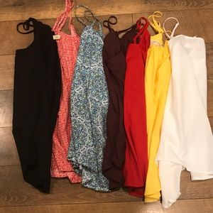 Bundle of 7 Flowy Tank Tops Size Small